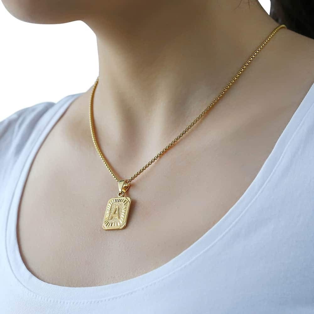 valentine day gifts for girlfriend Trendsmax Initial Letter Pendant Necklace Womens