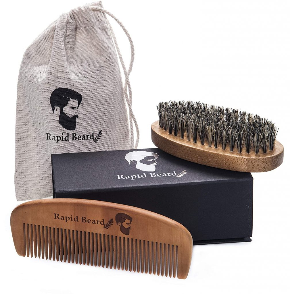 valentine day gifts for him Quick Beard Brush and Comb Kit