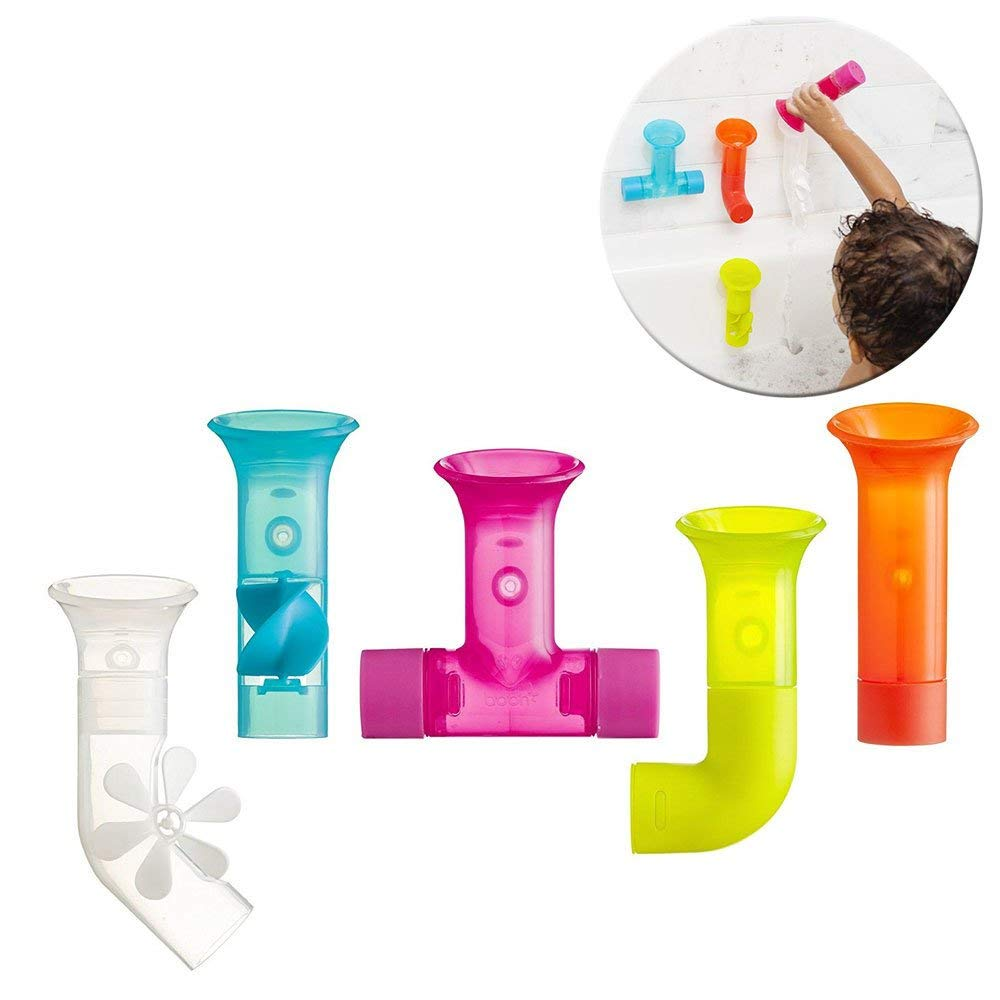 valentine day gifts for toddlers Boon Building Bath Pipes Toy, Set of 5