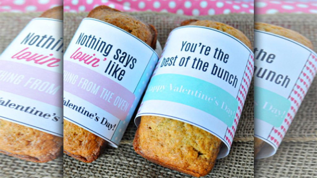 valentine day homemade gift ideas A Printable bread wrappers