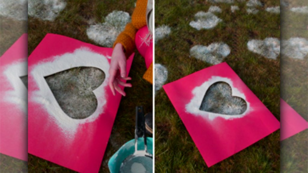 valentine day homemade gift ideas A romantic surprise with flour hearts