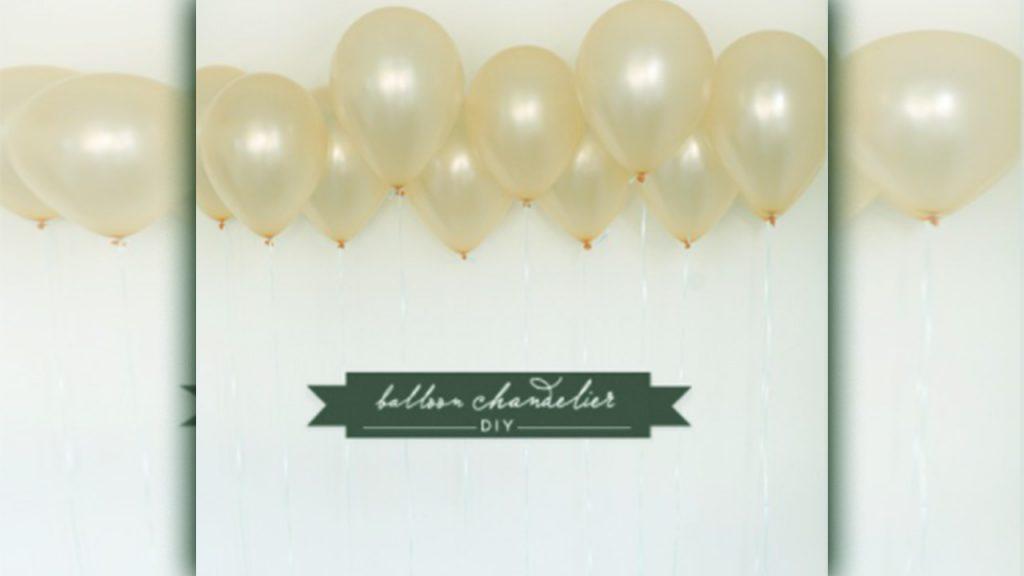 valentine day homemade gift ideas Balloon chandelier