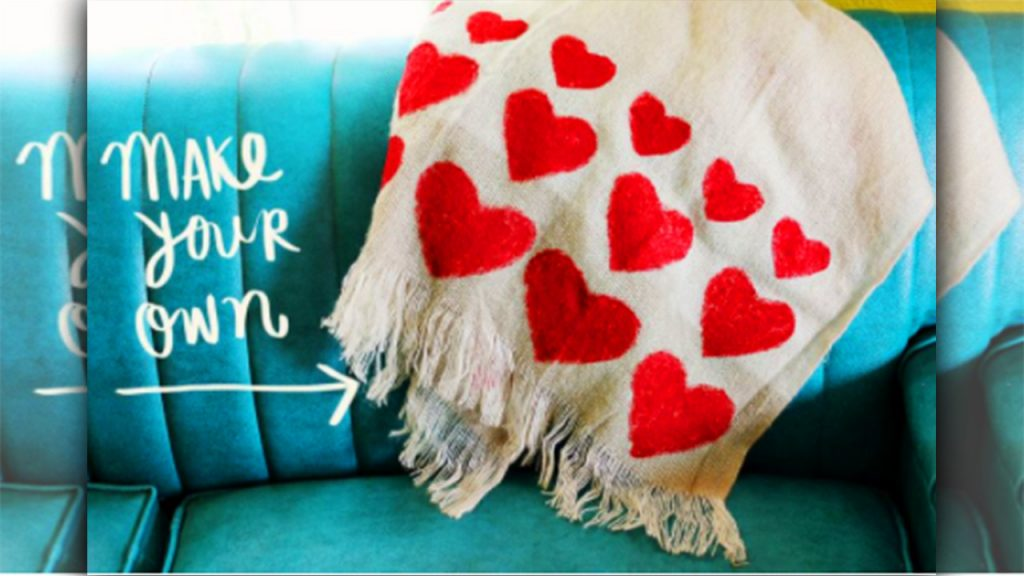 valentine day homemade gift ideas Create heart blanket