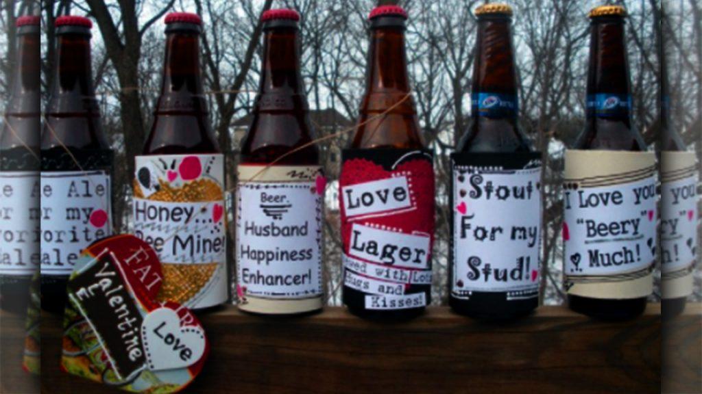 valentine day homemade gift ideas Custom beer bottles design