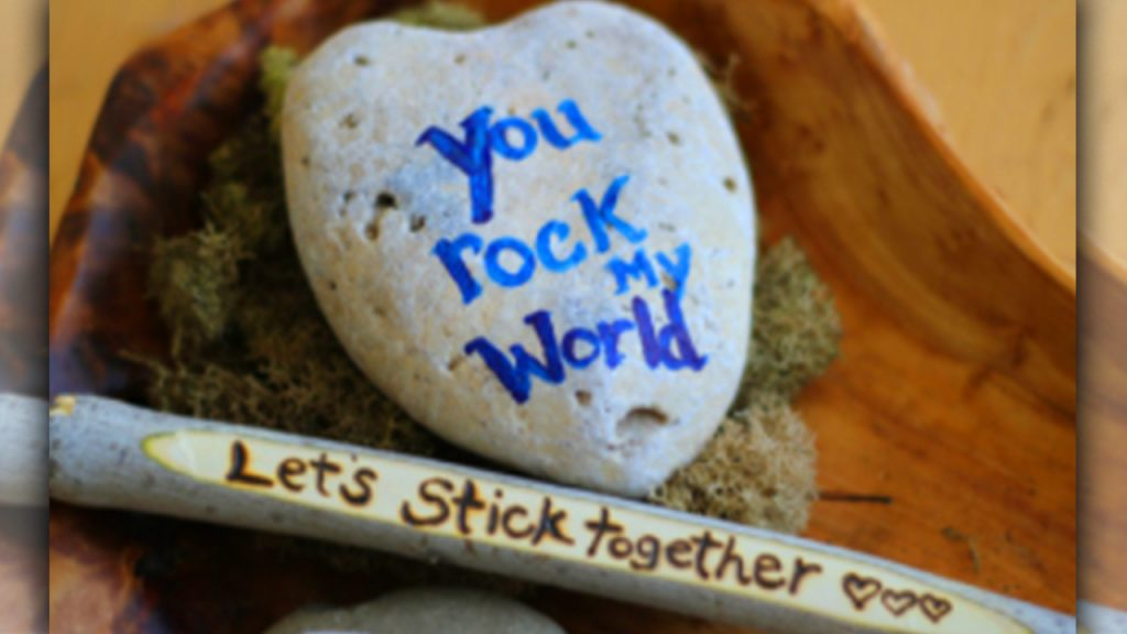 valentine day homemade gift ideas Sticks and stones
