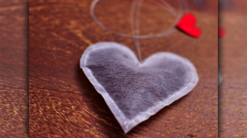 valentine day homemade gift ideas Tea Hearts bag