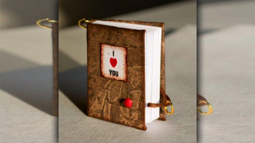 valentine day homemade gift ideas Valentine's little notebooks