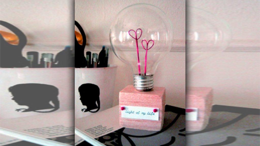 valentine day homemade gift ideas light bulb
