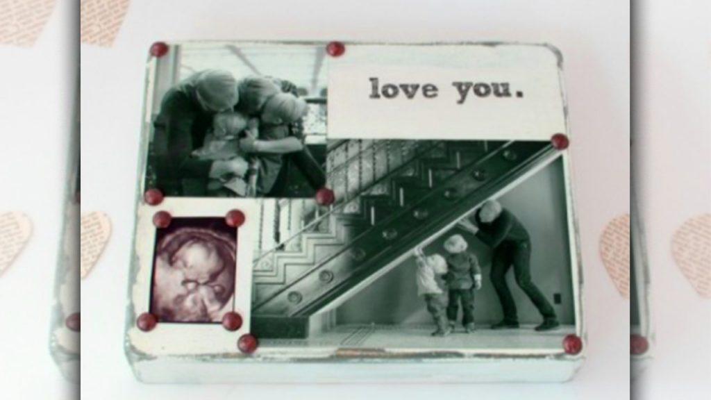 valentine day homemade gift ideas photo block