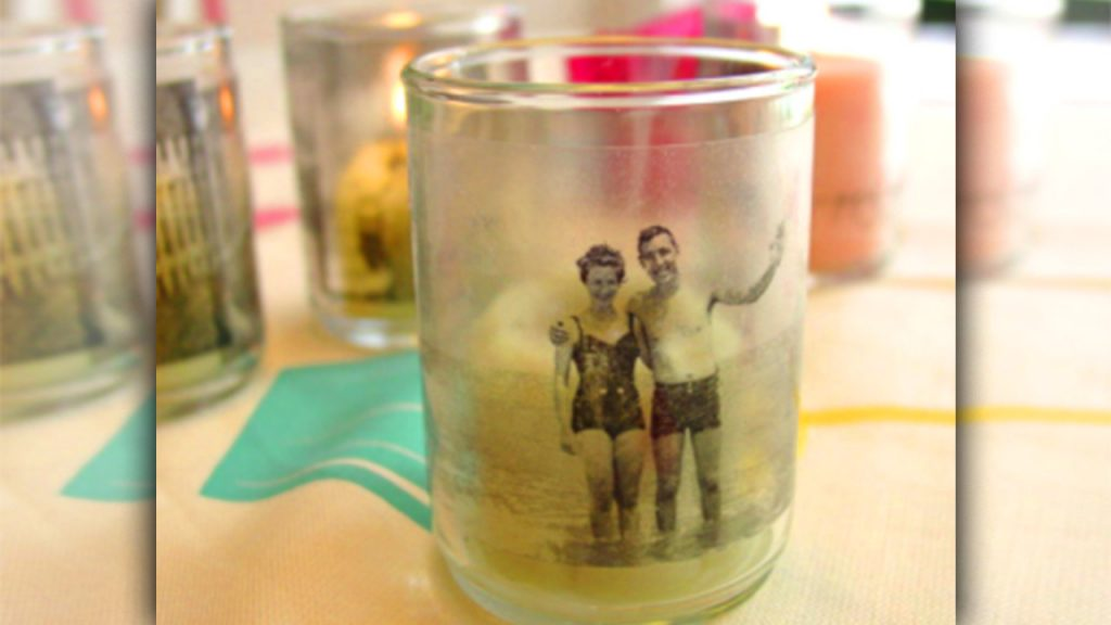 valentine day homemade gift ideas photo candle
