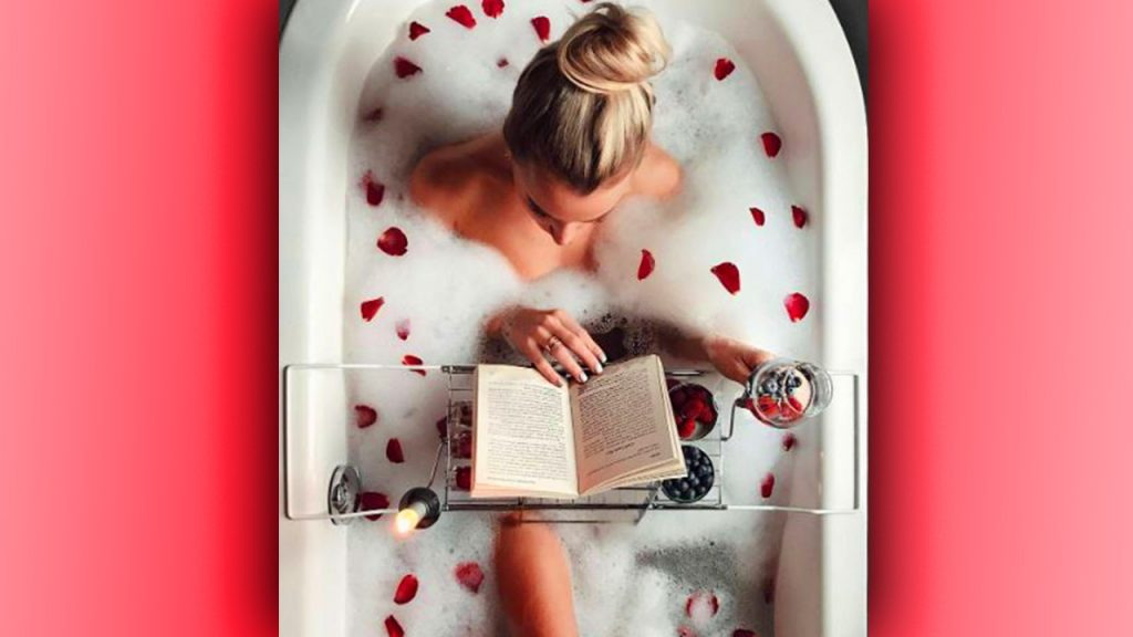 valentine day photoshoot take bath picture
