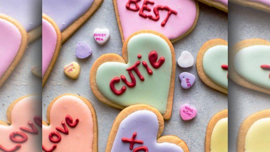 valentine day sugar cookies