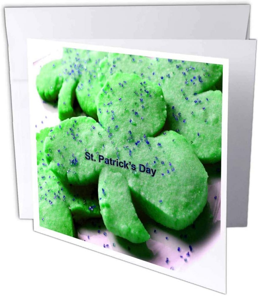 3dRose Shamrock Sugar Cookies - Greeting Cards st patrick's day cards