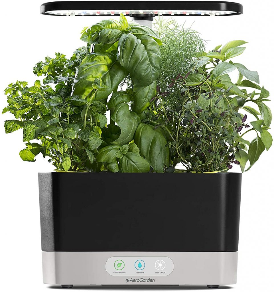 AeroGarden Black Harvest Indoor Hydroponic Garden women's gift for mom 2021