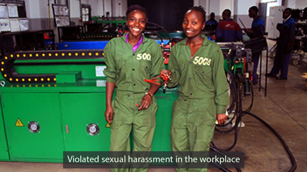 Among the three motivating women who violated sexual harassment in the workplace canada