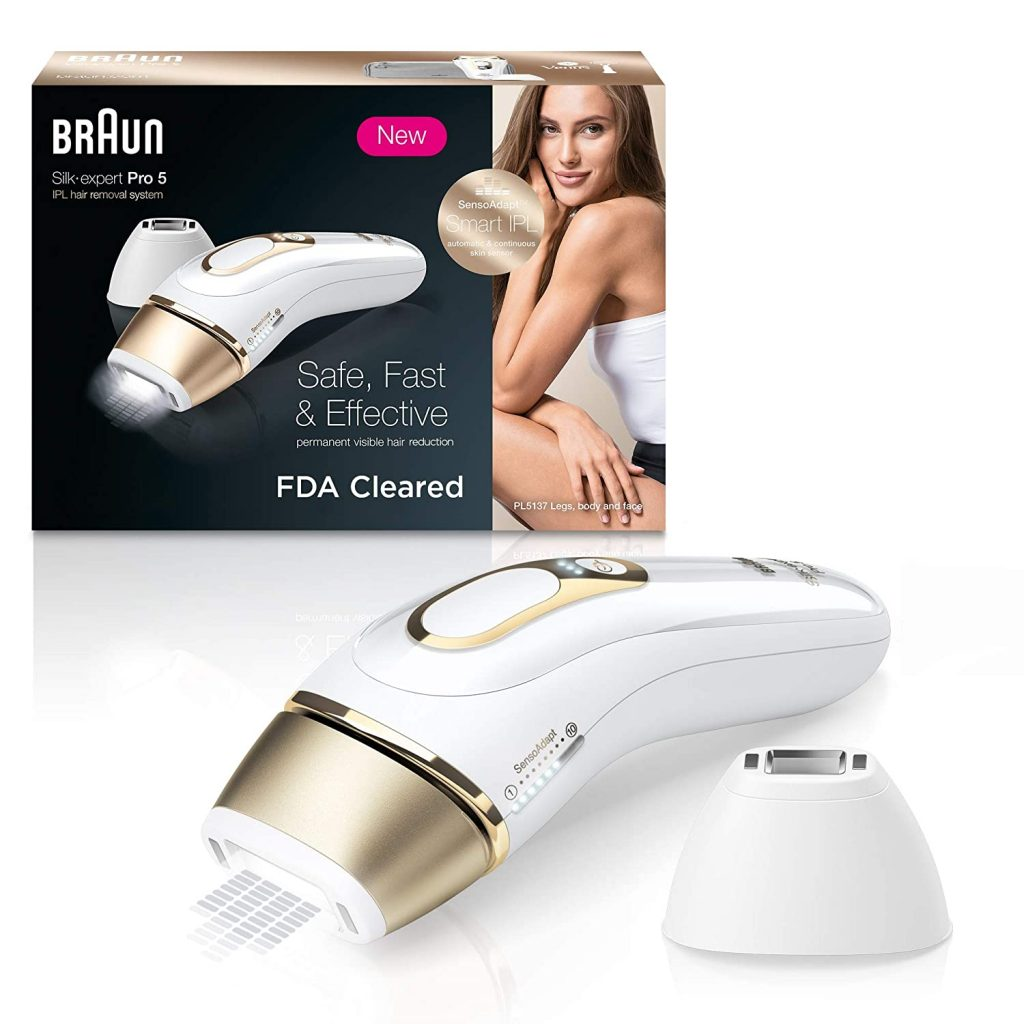 Braun IPL Hair Removal for Women, Silk Expert Pro 5 PL5137 with Venus Swirl Razor