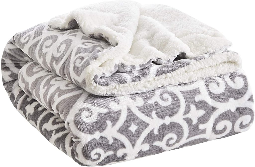 Comfort Spaces Plush Throw Blanket for Couch - 50 x 60 inches Lightweight Cozy Sofa Bed women's gift for mom 2021
