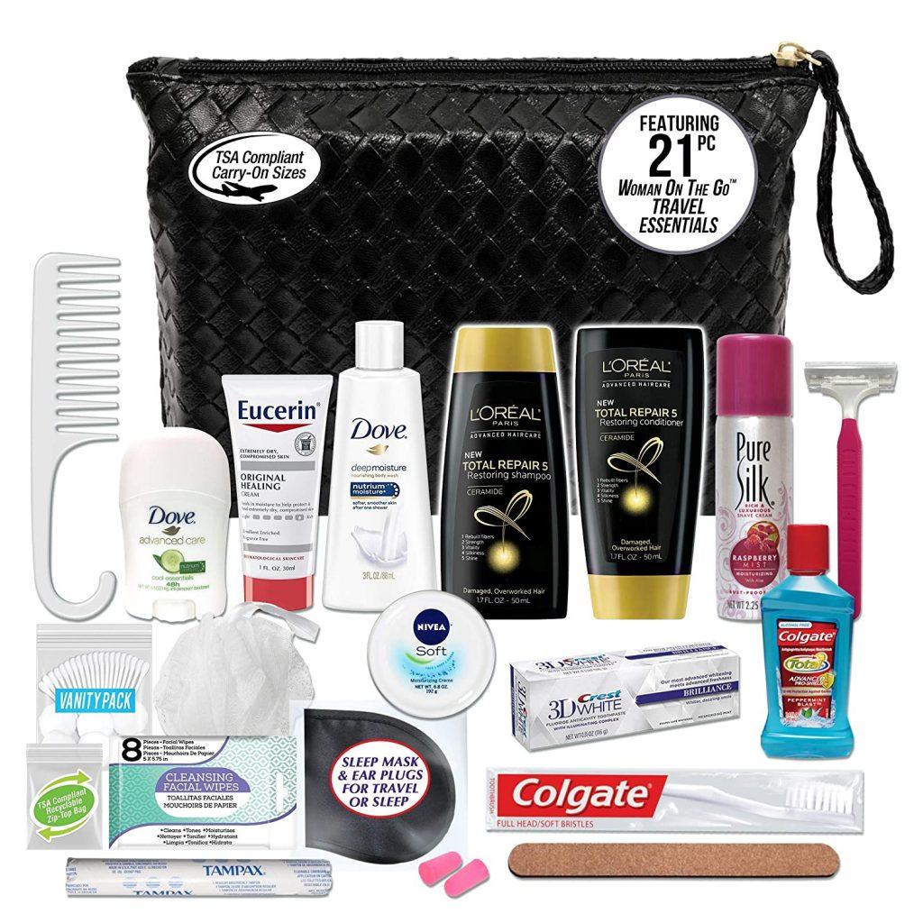 Convenience Kits International Women's Premium 2-Piece Assembled Necessities Travel Kit 1 Count