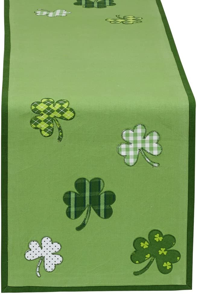 DII St Patrick's Day Clover Table Runner st patrick's day decorations