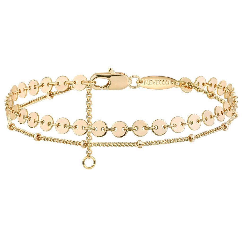 Gold Tiny Pearl Bracelet women's gift ideas for mom 2021