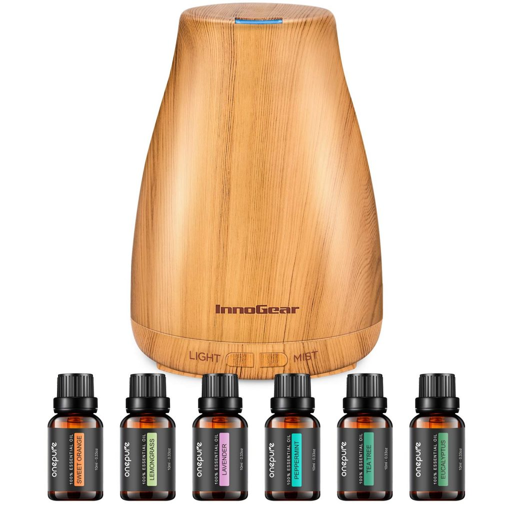 InnoGear Essential Oil Diffuser with Oils top 30 women's gift for mom 2021