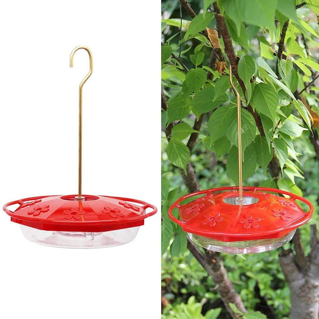 Juegoal 12 oz Hanging Hummingbird Feeder with 8 Feeding Ports women's gift ideas for mom 2021