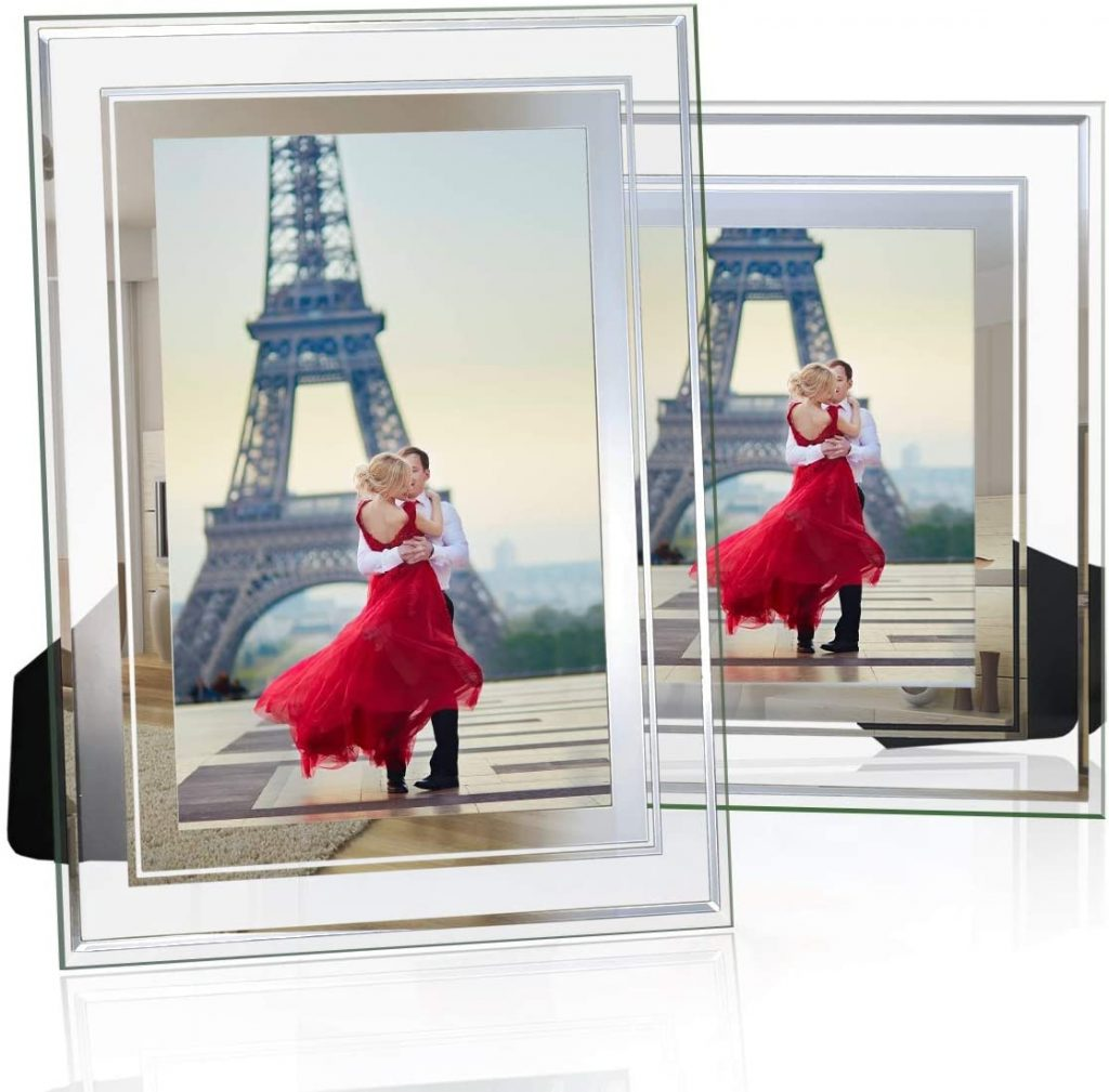 NUOLAN 4x6 Picture Frame, Glass Modern Photo Frames Set of 2 international women's daygifts for employees