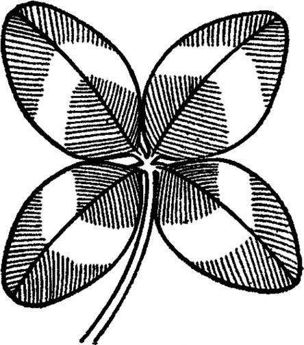ST PATRICKS DAY CLIP ART OF CLOVER sketch of leaf