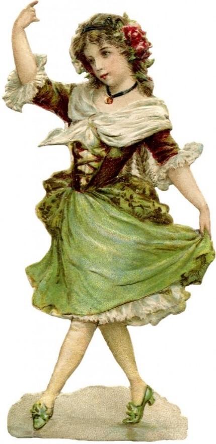 ST PATRICKS DAY CLIP ART OF LADIES dance