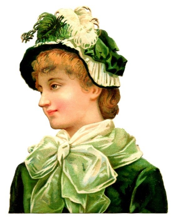 ST PATRICKS DAY CLIP ART OF LADIES with smile