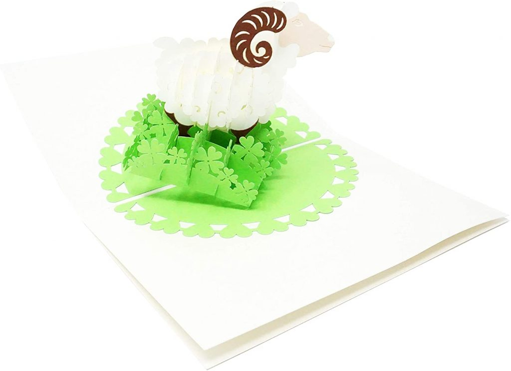 Shamrocks Goodluck - 3D Pop Up Greeting Card for All Occasions st patrick's day cards