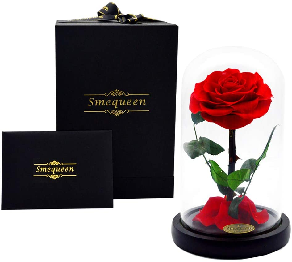 Smequeen Valentine's Day for Women Handmade Preserved Rose top 30 women's gift ideas for mom 2021