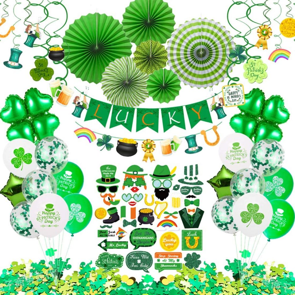 St Patricks Day Decorations, 92 Pcs St Patricks Day Accessories for Irish Party Supplies