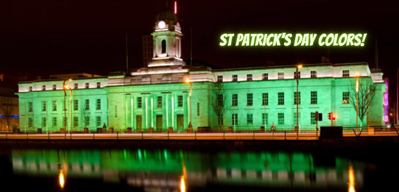 Authentic St Patrick's Day colors