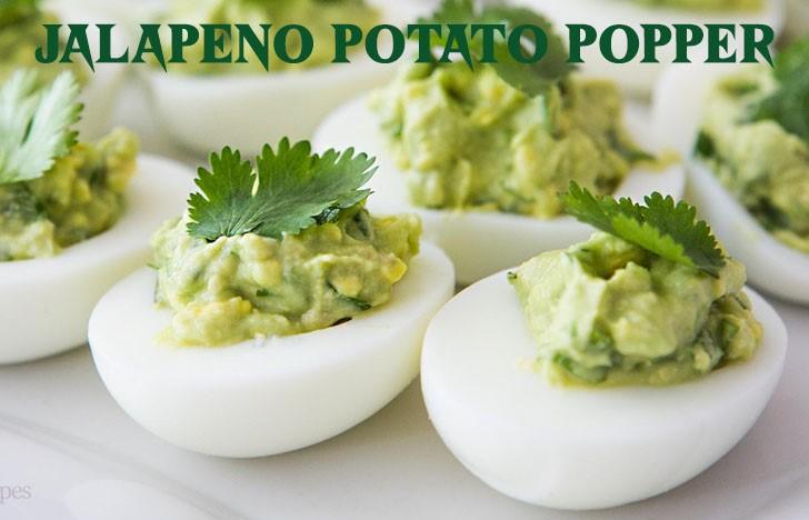 St. Patrick's Day Appetizer Ideas of Avocado devil eggs
