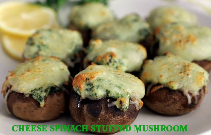 St. Patrick's Day Appetizer Ideas of Cheese Spinach Stuffed Mushroom