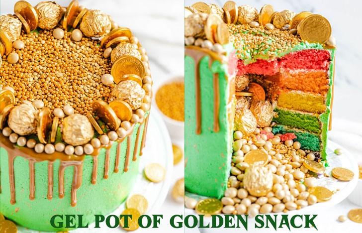 St. Patrick's Day Appetizer Ideas of Gel pot of golden snack