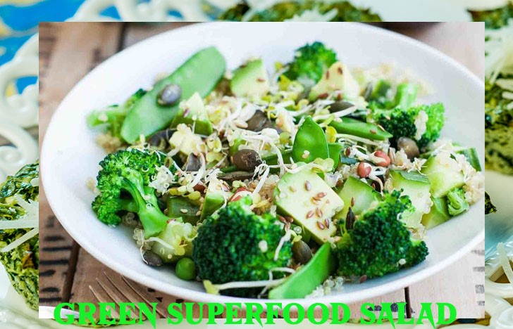 St. Patrick's Day Appetizer Ideas of Green Superfood Salad