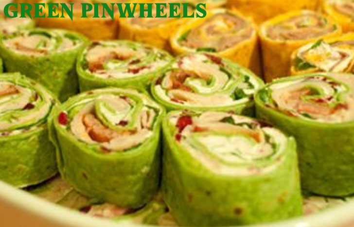 St. Patrick's Day Appetizer Ideas of Green pinwheels