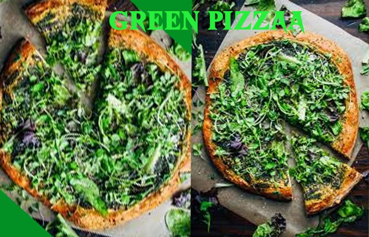 St. Patrick's Day Appetizer Ideas of Green pizza