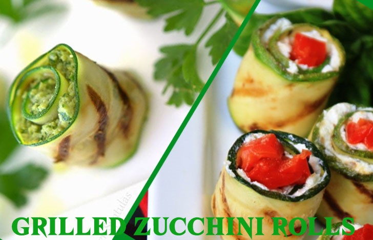 St. Patrick's Day Appetizer Ideas of Grilled zucchini rolls