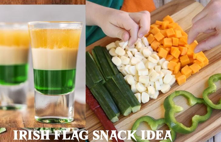 St. Patrick's Day Appetizer Ideas of Irish Flag Snack Idea