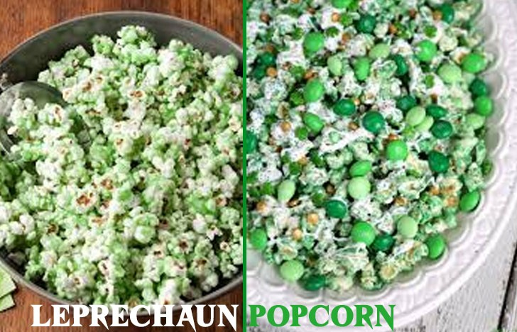 St. Patrick's Day Appetizer Ideas of Leprechaun Popcorn
