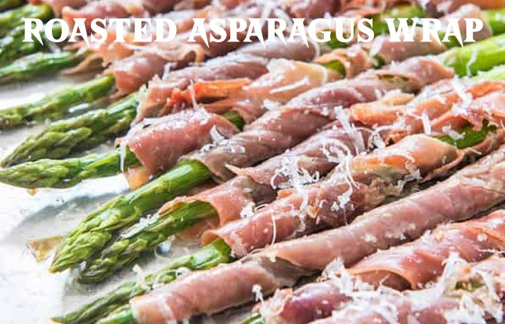 St. Patrick's Day Appetizer Ideas of Roasted Asparagus Wrap