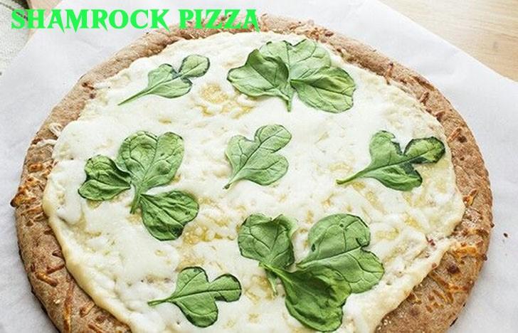 St. Patrick's Day Appetizer Ideas of Shamrock Pizza