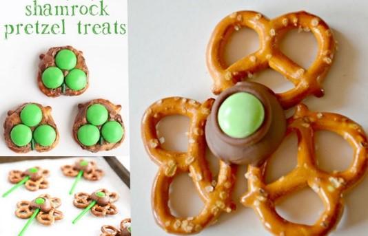 St. Patrick's Day Appetizer Ideas of Shamrock Pretzel Treats