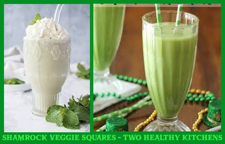 St. Patrick's Day Appetizer Ideas of Shamrock Veggie Squares - Two Healthy Kitchen