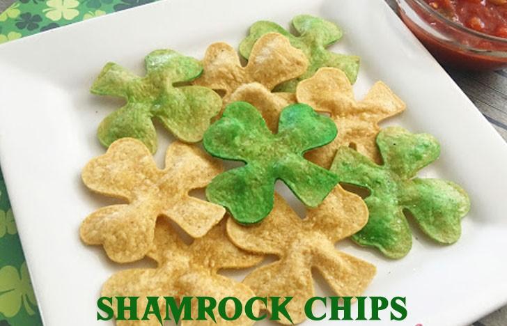 St. Patrick's Day Appetizer Ideas of Shamrock chips
