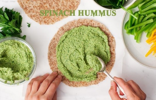 St. Patrick's Day Appetizer Ideas of Spinach Hummus