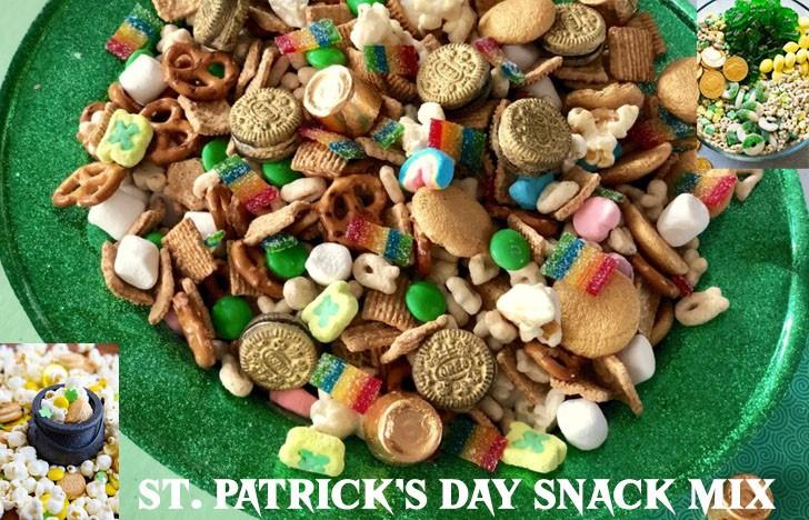 St. Patrick's Day Appetizer Ideas of St. Patrick's Day Snack Mix